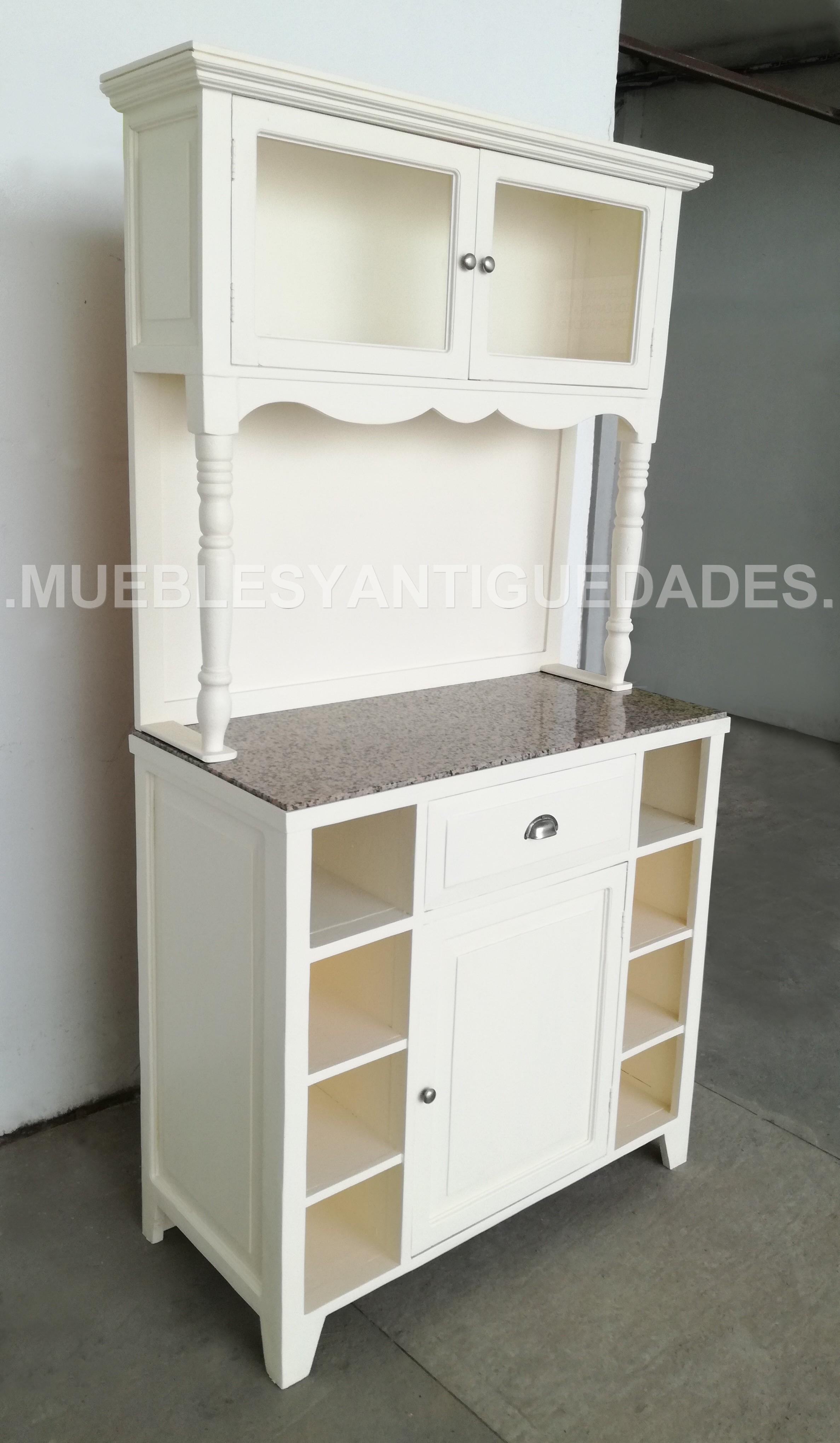 Alacena mueble de cocina en madera maciza (AL102M)